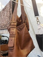 Lot of 2 Brown Purses