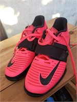 Bright Pink and Black Nike Shoes 7