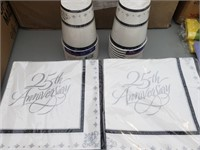 25th Anniversary Cups and Napkins