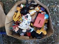 Box of  Vintage Looking Toys Disney, etc