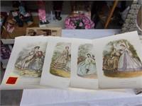 4 Victorian Prints