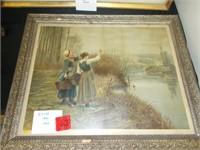 Framed 1890 Print
