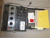 Sencore Tube Tester With Paperwork