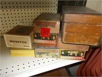 8 Cigar Books, 1 Wooden