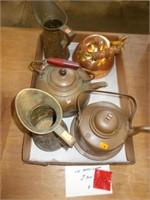 Copper & Brass Teapots & Pitchers