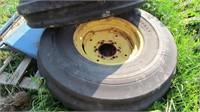 11.0-16 Firestone Tires & Rims - Pair