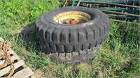 "20"" Tires, Rims & Hubs off Manure Spreader - Pair"