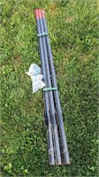 NEW 5pc 6' T-Posts & 2 Bags of Wire Post Ties