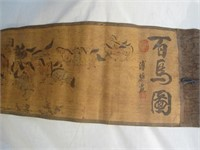 """Japanese """"Wild Horses"""" Ink On Scroll Online Auction"""