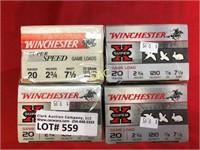 25rds Asst Brands 20ga Shotgun Shells