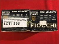 25rds Fiocchi 28ga Shotgun Shells