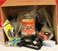 Box Lot of Asst Scope Rings, Mounts, Covers