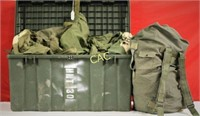 Box Lot of Army Backpacks