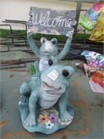 Frog Garden Welcome Decor.