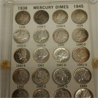 Mercury Dime Collection
