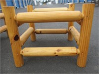 Set of Woden Chair and Wooden Footstool