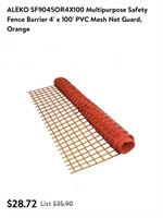 4ft x 100ft safety fence