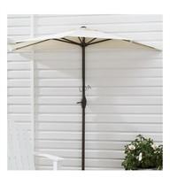 Mainstays 7ft white patio Half umbrella