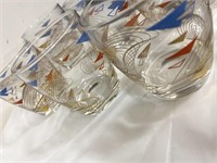 8 Retro lowball glasses