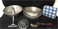 Kitchen items including napkin holder, small bunt
