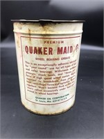 Quaker Maid wheel basting grease can with