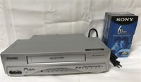 Sylvania video cassettes recorder with new Sony