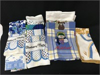 Collection of kitchen hand towels, wash cloths