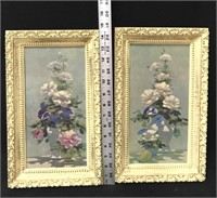 Framed decorative wall hangings