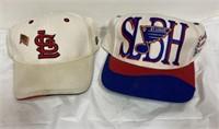 St Louis Cardinals & Blues hats