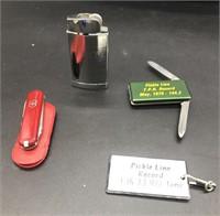 Butane Lighter and Knifes