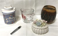 Vintage canisters, Oven Basics 8 ounce measuring