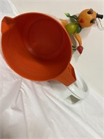 Vintage Tang pitcher & Fruit and veggie lady