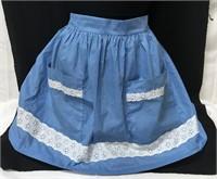 Vintage blue polka dot apron