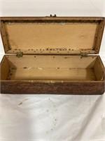 Vintage wood Tie box