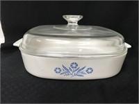Pyrex Corningware Cornflower Blue pieces & handle
