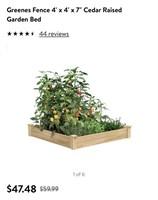 "4ft x 4ft x 7"" raised garden bed"