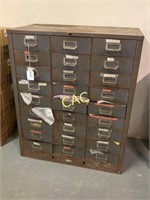 27drawer Metal Tool Cabinet Full of Gun Parts