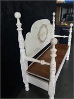 "Handmade Distressed Entry Bench 58""×51""×21"""