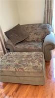 Oversized chair & ottoman w/pillow