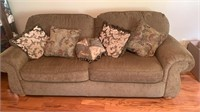 Couch w/Decorative Pillows