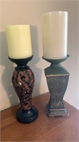 2 Candle Holders w/candles