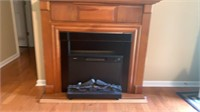 Electric fireplace & Mantle