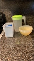 Bowls containers & pitcher
