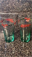 Holiday Coca Cola drinking glasses