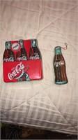 Coke bottle lunch box w/ small coke ornament