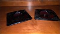 Pair of ashtrays