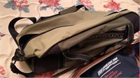 Leather suitcase, duffel bag, purse