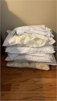 Pillows, cotton sheet, and full sham