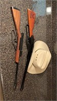 2 BB guns w/justin kids Hat
