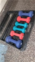 Neoprene Dumbells with case